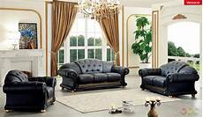 Italian Sofa Sets For Living Room 3d Image by Versace Black Genuine Italian Leather Luxury Sofa Loveseat