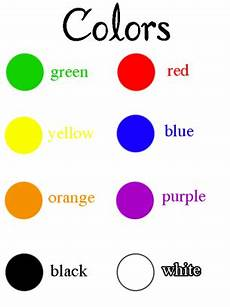 Basic Color Chart For Kids Teaching Colors Printables State The Color Names