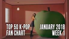 2018 Pop Charts Top 50 K Pop Songs Chart January 2018 Week 1 Fan Chart