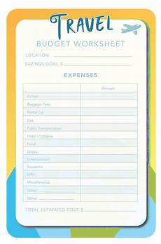 Travel Expense Worksheet 14 Travel Budget Worksheet Templates For Excel And Pdf