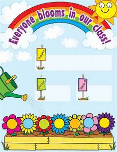 Welcome Chart For Classroom Our Class In Bloom Welcome Chart Classroom Decoration Charts