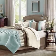 light blue and brown bedding comforter sets