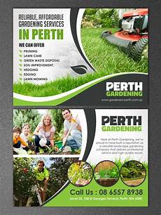 Landscaping Flyer Design Professional Serious Landscape Gardening Flyer Design