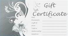 Hair Salon Gift Certificate Template Free Modest Free Printable Gift Certificates For Hair Salon