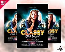 Club Flyer Maker Online Free Download Classy Club Night Flyer Free Psd Psddaddy Com