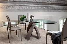 vetro tavolo eliseo 8028 tavolo tonin in metallo con piano in vetro