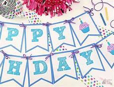 Free Happy Birthday Banner Printables Happy Birthday Banner Bugaboocity