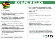 Rental House Rules Template House Rules Kvinesdal Mottak
