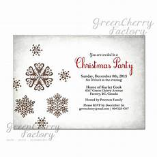 Black And White Christmas Invitations White Christmas Party Invitation Vintage Silver Light