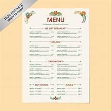Free Restaurant Menu Templates For Microsoft Word 23 Free Menu Templates In Pdf Ms Word Excel Psd