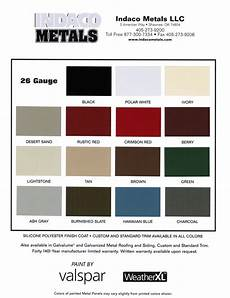 Tin Roofing Color Chart 12 Best Color Wheel Chart Metal Colors Images On