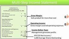 Multi Step Income Statement Format Preparing Single And Multi Step Income Statements Slide