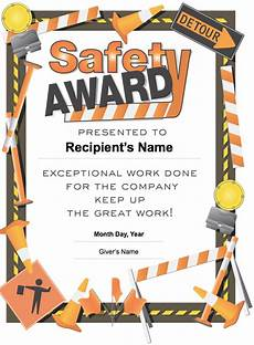 Safety Award Certificate Template 28 Images Of Shrink And Safety Award Template Free