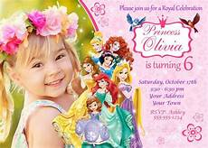 Disney Birthday Party Invitations Disney Princess Invitation Princess Birthday By Smileparty