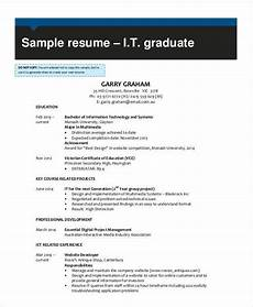 Resume For It Graduate It Resume Sample 16 Examples In Word Pdf