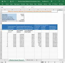 Amoritation Calculator Effective Interest Method Of Amortization Calculator Free
