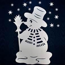 fensterbilder weihnachten vorlagen kinder gro 223 er schneemann filigranes fensterbild aus tonkarton