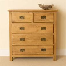lanner oak 2 3 chest of drawers 5 drawer rustic