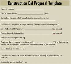 Bids For Construction Jobs Construction Bid Proposal Template Microsoft Excel Templates
