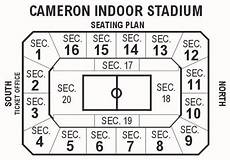 Cameron Indoor Stadium Seating Chart With Rows And Seat Numbers Cameron Indoor Secton 2