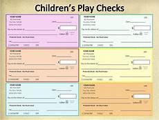 Pretend Cheque Personalized Printable Children S Play Checkspretend