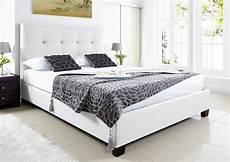 kaydian walkworth ottoman storage bed white leather