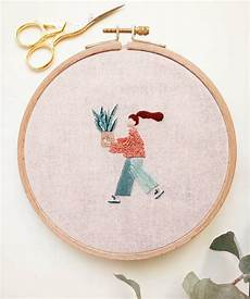 embroideries depict proud plant parents with their