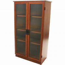storage cabinet with 4 shelves home organizer glass doors