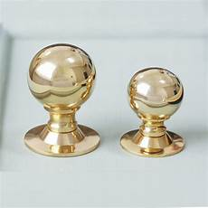 polished brass cabinet knob