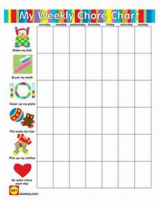5 Year Old Chore Chart Printable Reward Your Little One For Completing Chores By Printing