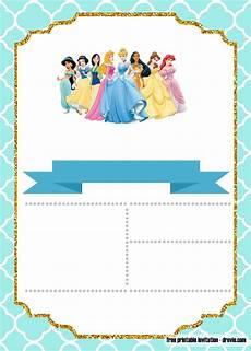 Free Princess Invitations Free Disney Princess Invitation Template For Your Little