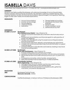 Bookeeper Resume Unforgettable Bookkeeper Resume Examples To Stand Out