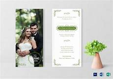 Weds Card Format Elegant Wedding Invitation Card Design Template In Word