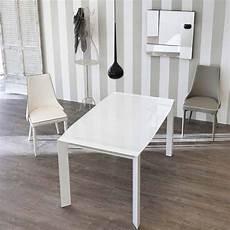 vetro tavolo tavolo allungabile design moderno con top in vetro zeno