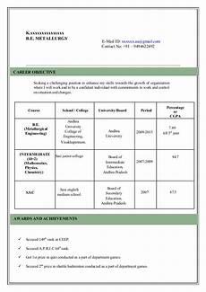 Models Of Resume Model Resume