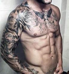 Full Sleeve Designs Skulls Top 80 Best Skull Tattoos For Men Manly Designs And Ideas