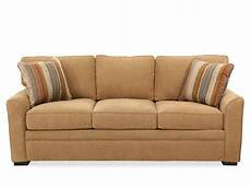 low profile transitional 83 quot sleeper sofa in brown