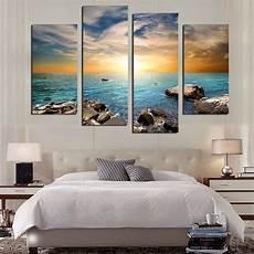 quadri su tela senza cornice 4 pannelli sea pietra dipinti su tela wall quadri