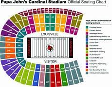 Uofl Cardinal Stadium Seating Chart Papa Johns Cardinal Stadium Louisville Football Stadium