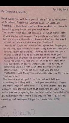 Letters To Teachers From Students Teacher S Inspiring Letter To Students Goes Viral