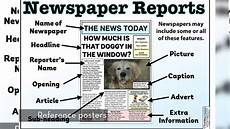 Parts Of A Newspaper The Newspaper Reports Pack Teaching Resources Youtube