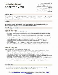 Medical Assistant Job Description For Resume Medical Assistant Resume Samples Qwikresume