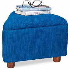 relaxdays upholstered cotton footstool small padded