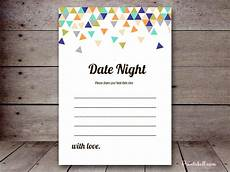Date Night Card Templates Date Night Cards Printabell Create