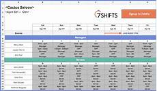 Excel Scheduling How To Make A Restaurant Work Schedule With Free Excel