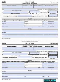 Dmv Ca Gov Bill Of Sale Free California Dmv Bill Of Sale Reg 135 Vehicle