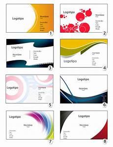 Plantillas Para Tarjetas De Presentacion Plantilla De Tarjetas De Presentacion Imagui