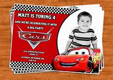 Cars Birthday Invites Items Similar To Cars Birthday Invitation U Print On Etsy