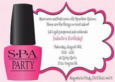 Spa Party Invitation Wording Ooh La La Spa Party Girls Birthday Invitation Includes
