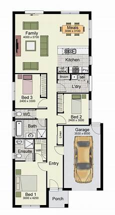 single story home floor plan with 3 bedrooms and 150